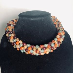 Vintage Angela Caputi Resin Choker Necklace